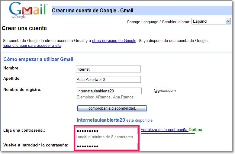 Gmail crear cuenta Crear cuenta